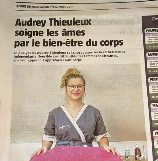 LA VOIX DU NORD 2017 - Audrey Socio-esthétique Presse 1/2